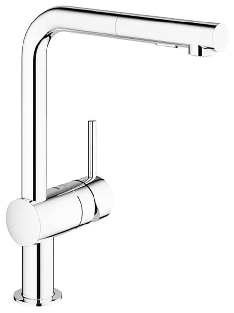 Grohe 30 300 Minta Pull-Out Spray Kitchen Faucet, Polished Chrome
