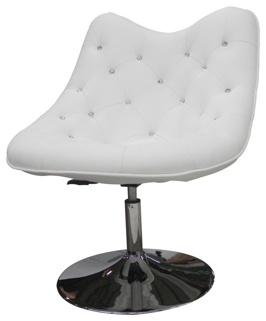 Fine Sandy Adjustable Faux Leather Chair With Chrome Base White Cjindustries Chair Design For Home Cjindustriesco