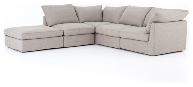 Swell Paloma 4 Piece Sectional With Ottoman Pabps2019 Chair Design Images Pabps2019Com