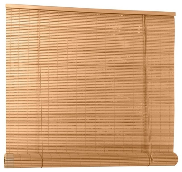 "Lewis Hyman 0322086 Pvc Roll Up Blind, 96""wx72""l, Woodgrain."