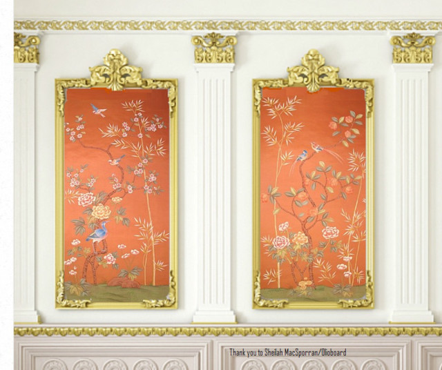 Griffin And Wong Chinoiserie Handpainted Wallpaper