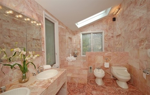 Need Help Decorating This Pink Marble Bathroom