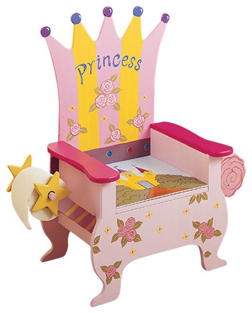 Princess Potty Training Throne Traditional Kids Bathroom Accessories
