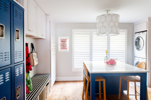 Designer Transforms a Dining Room Into a Multiuse Laundry Room