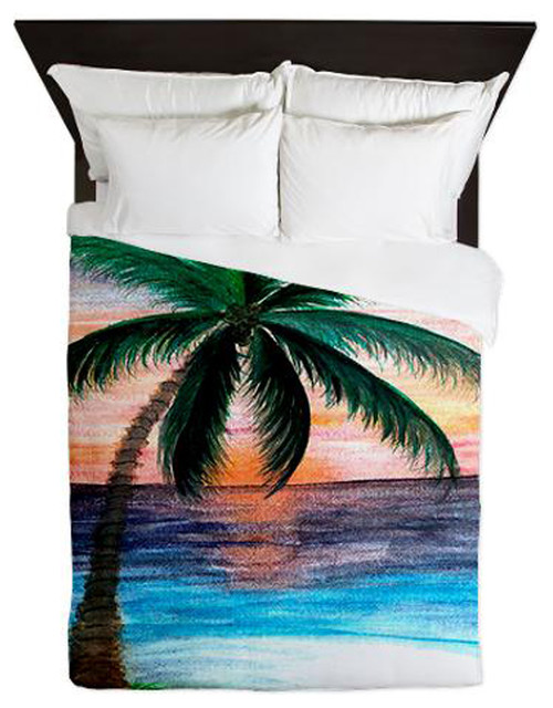 Sunset Palm Tree Duvet Covers Toddler And Sets