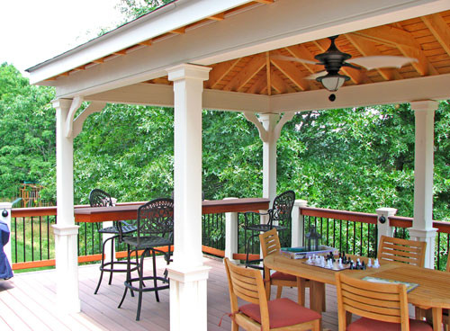 Covered Living Area Traditional Patio Dc Metro By