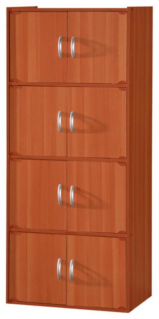 8-Door Storage Cabinet, Cherry.