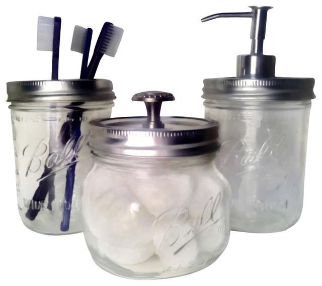 Bath Mason Jars Set Of 3