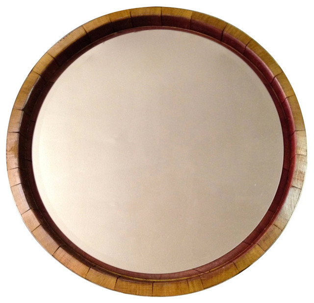 Inverted Wine Barrel Mirror.