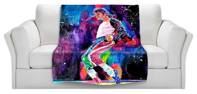 "Michael Jackson Throw Blanket, 60""x50""."