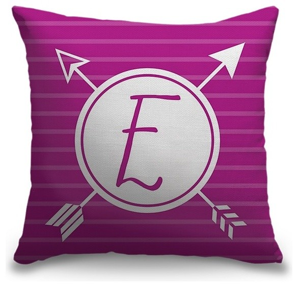 """Letter E - Arrows"" Pillow 20""x20"""