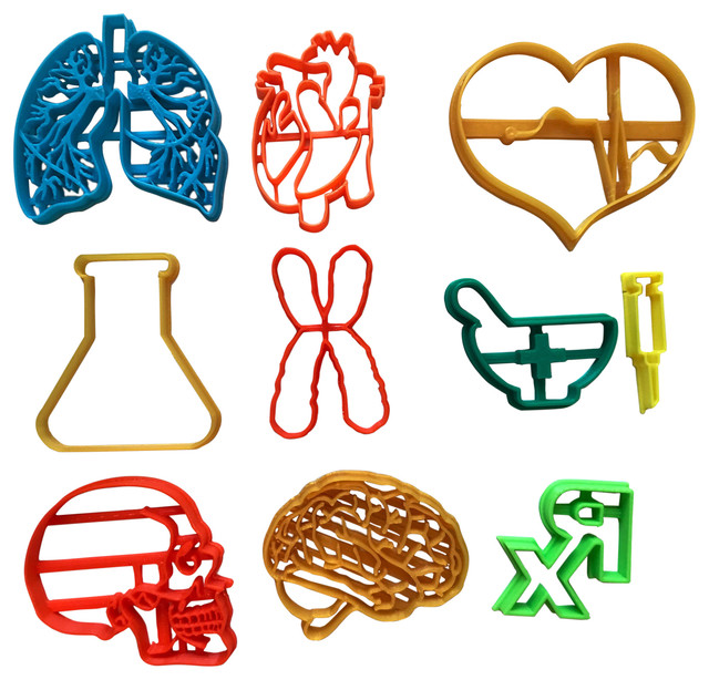 Medical Set Cookie Cutters, Set Of 10.