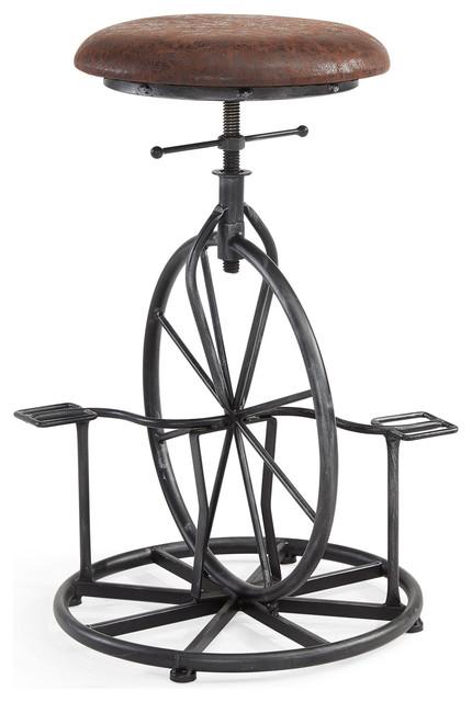 Harlem Adjustable Industrial Metal Bicycle Barstool