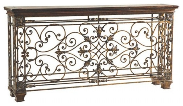 Ambella Home Collection Rockefeller Console Table, Large  Mediterranean Console Tables