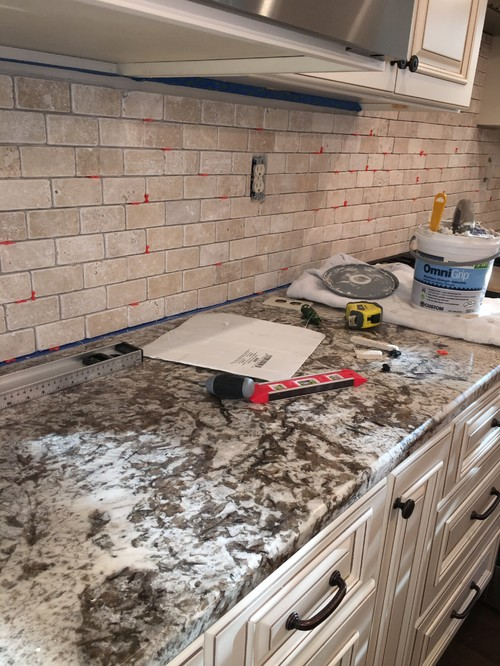 How To Remove Pink Undertones From Backsplash Tile?!