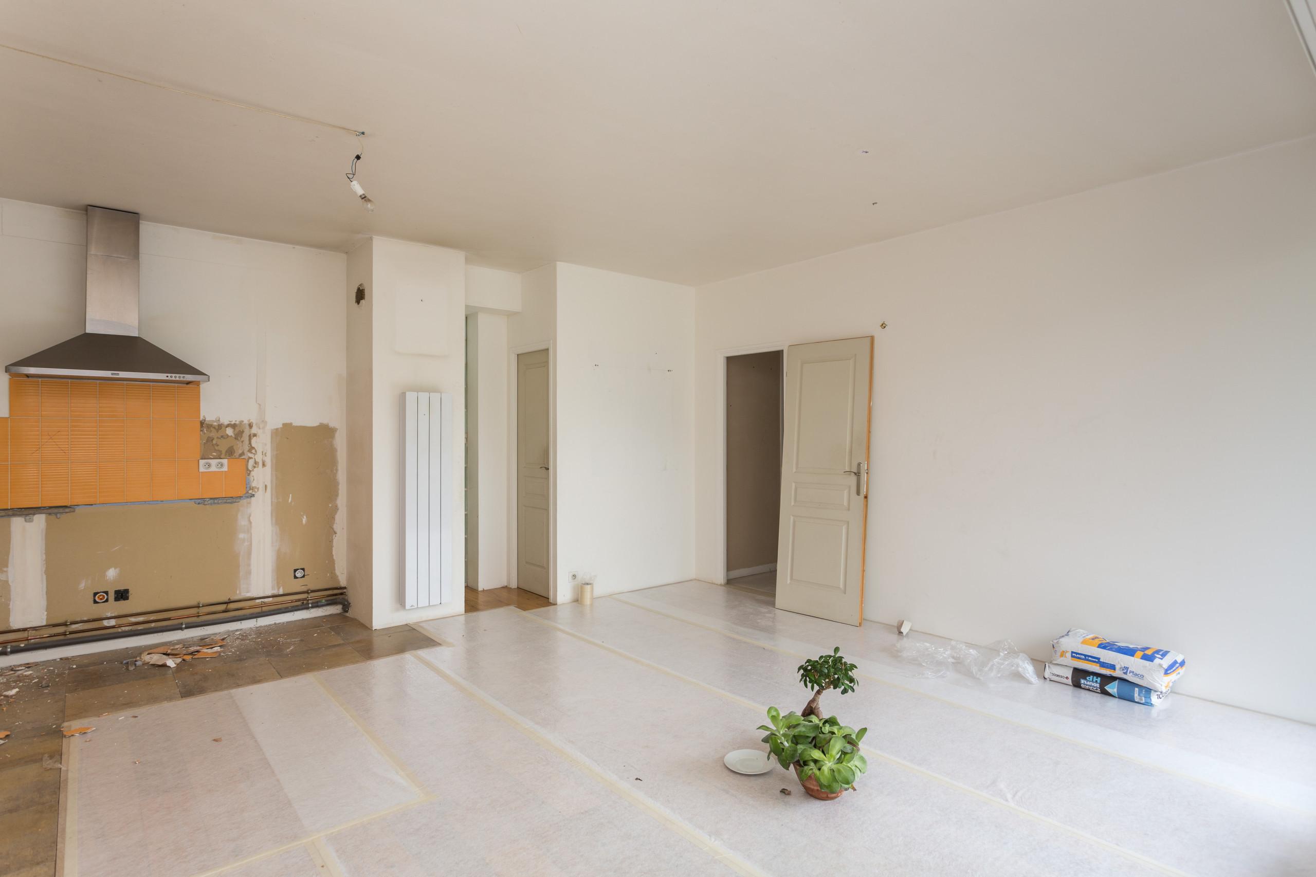 Rénovation d'un duplex en  rez de jardin
