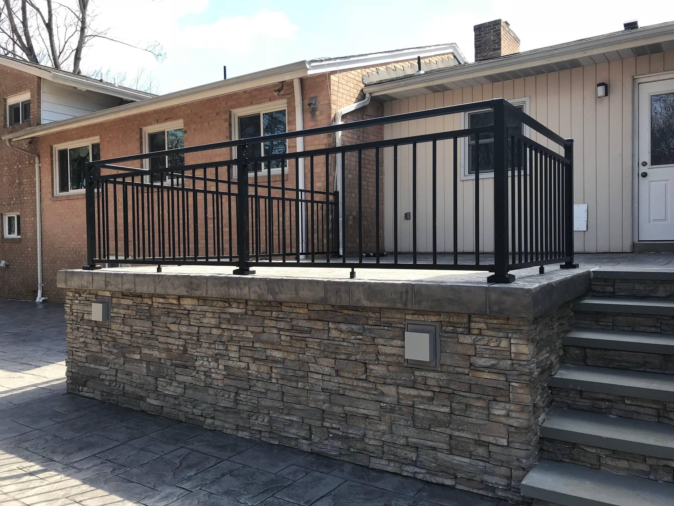 Davidsonville Concrete Patio & Railing Project