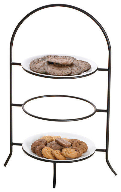 Iron Works Metalware Dinner 3-Tier Plate Rack  sc 1 st  Houzz & Iron Works Metalware Dinner 3-Tier Plate Rack - Traditional ...