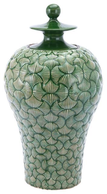 Zuo Decor Ventra Large Temple Jar Green