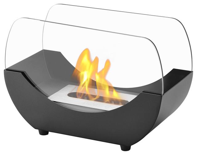 Liberty Tabletop Fireplace, Black.