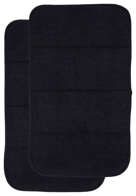 All-Clad 2-Pack Reversible Asborbent Dish Drying Mat Set, Black.