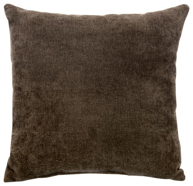 Echo Pillow Brown Velvet Contemporary Decorative Pillows By Unique Echo Decorative Pillows