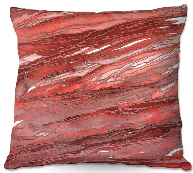 Dianoche Throw Pillows By Julia Di Sano Agate Magic Rust Red.