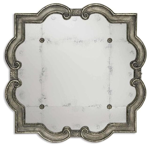 Uttermost Prisca Distressed Silver Mirror.