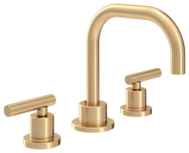 Dia 2-Handle Widespread Faucet With Drain Assembly, 1.5 GPM, Brushed Bronze