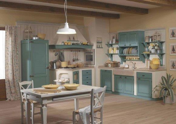 Cucine rustiche piastrellate o in muratura in campagna - Cucine provenzali francesi ...