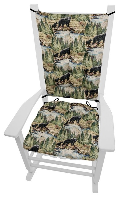 Peachy Wilderness Mountain View Rocking Chair Cushions Latex Foam Extra Large Squirreltailoven Fun Painted Chair Ideas Images Squirreltailovenorg