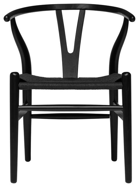 Wishbone Chair Midcentury Modern, Black Wishbone Chairs Dining Room