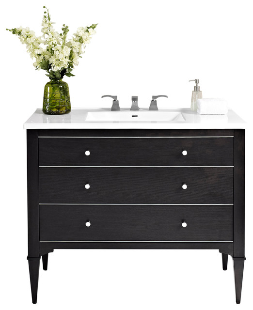 Fairmont Designs Charlottesville 42 Single Vanity Black Transitional Bathroom Vanities And Sink Consoles By Luxx Kitchen And Bath Houzz
