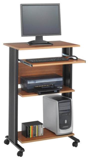 Muv Stand-Up  Computer Workstation, Medium Oak.
