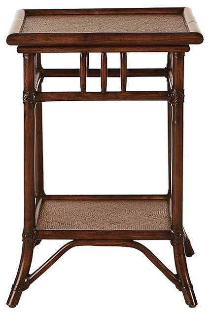 Classic Rattan Bedside Table Traditional Nightstands