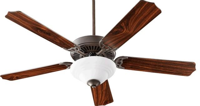 Quorum International 77525-90 Capri Iii 5 Blade Indoor Ceiling Fan, 52.