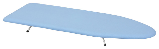 Household Essentials 120101-0 Wood Table Top Ironing Board, White.