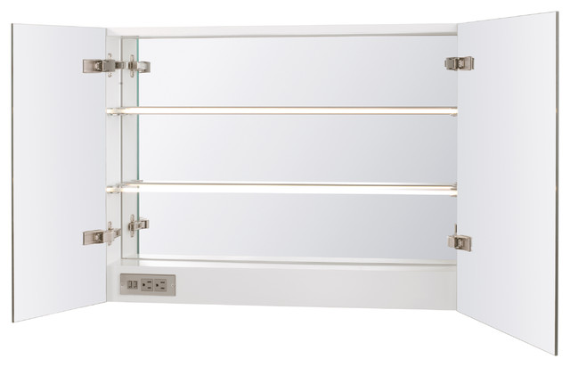 """Ronbow Signature Series 31"""" Free Mirror Cabinet With Led, White."""