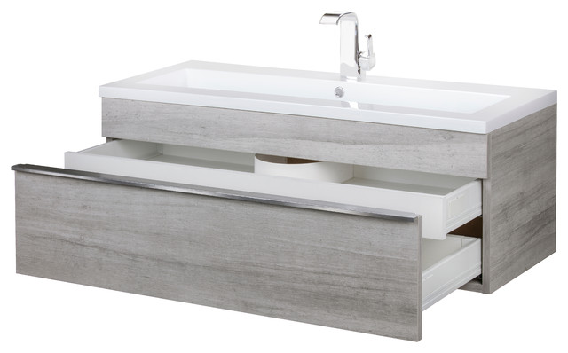 Trough Collection 42 Wall Mount Modern Bathroom Vanity Modern Bathroom Vanities And Sink Consoles By Parma Home Houzz