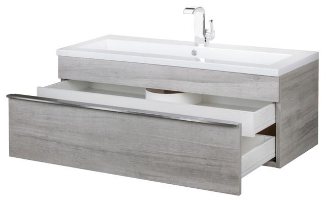 Trough Collection 42 Wall Mount Modern, Trough Sink Bathroom Vanity