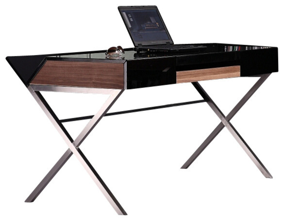 Orwell Contemporary Minimal Office Desk Modern Desks And Hutches