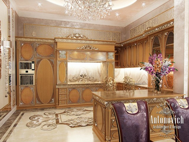 Elegant Kitchen Dubai From Luxury Antonovich Design