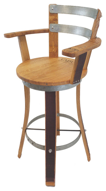 Awe Inspiring Wine Barrel Bar Stool With Armrest Gmtry Best Dining Table And Chair Ideas Images Gmtryco