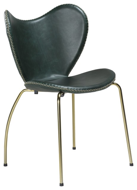 Danform Denmark DanForm Butterfly Upholstered Chair Dining – Green Leather Dining Chairs