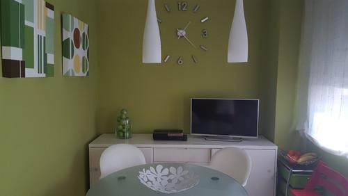 Cambio color pared cocina - Paredes verde pistacho ...
