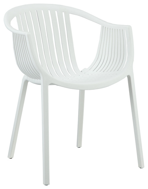 Hammock White Plastic Stackable Outdoor Modern Dining Chair modern outdoor  dining chairsHammock Dining Arm Chair Modern - Modern Plastic Outdoor Dining Chairs. Hamilton Outdoor Chair In