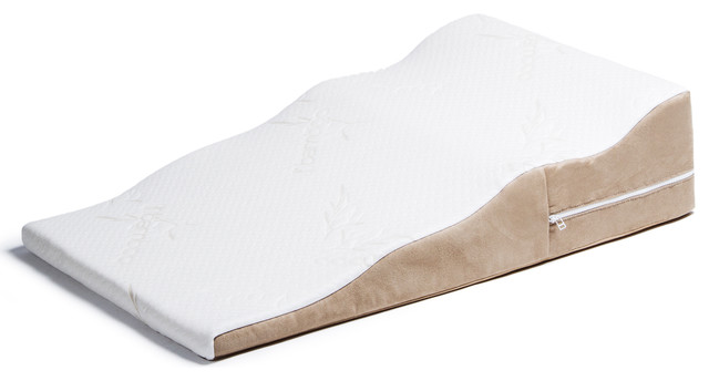 Avana Contoured Bed Wedge Support Pillow For Side Sleepers Contemporary Pillow Protectors