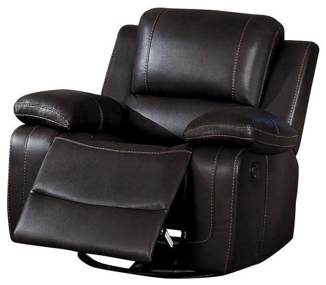 Black Leather Rocking Recliner Chair Bruin Blog