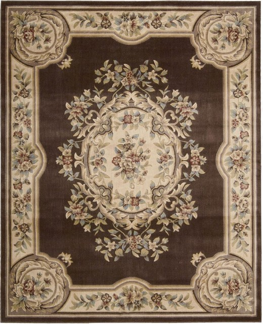 Nourison Chateau Cht01 Brown Rug Victorian Area Rugs