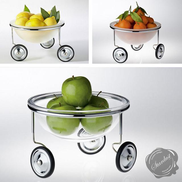 Fruit Bowl 'Fruit on Wheels' by Arnout Visser